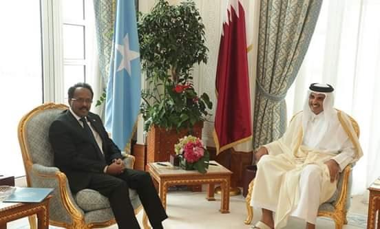 Amiirka Qatar iyo madaxweyne Farmaajo oo khadka talleefoonka ku wada hadlay+Arimaha Ay Ka Wada Hadleen.