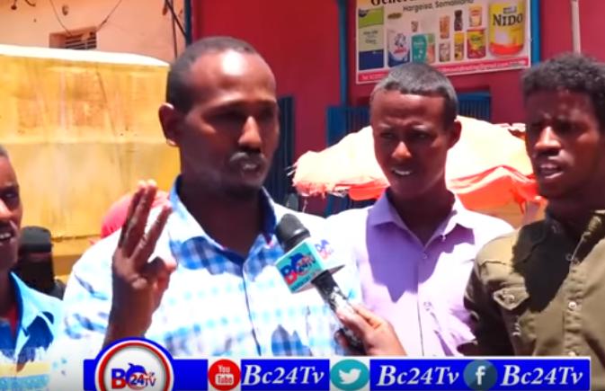 Hargeisa:-Shacabka Caasimada Hargeysa Oo Ka Dareen Celiyay Khudbad Sanadeedkii Madaxwaynaha Somaliland Uu Ka Jeediyay Labada Gole.
