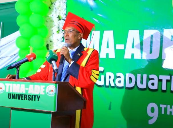 Daawo: khudbadii Madaxweynaha Somaliland ka jeediyey Qalinjebintii Dufcadda 9aad ee Jaamacadda Timocadde