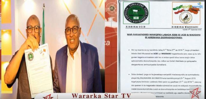 War  Deg Deg Ah:-Xisbiyada Mucaaridka Ah oo Go'aan ka Soo Saaray Doorashooyinka Somaliland.