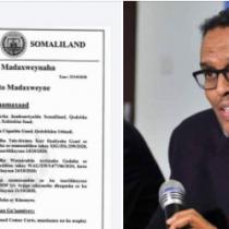 Madaxweynaha Somaliland Oo Cafis u fidiyey Ra'iisal-wasaare ku xigeenkii hor ee Soomaaliya.