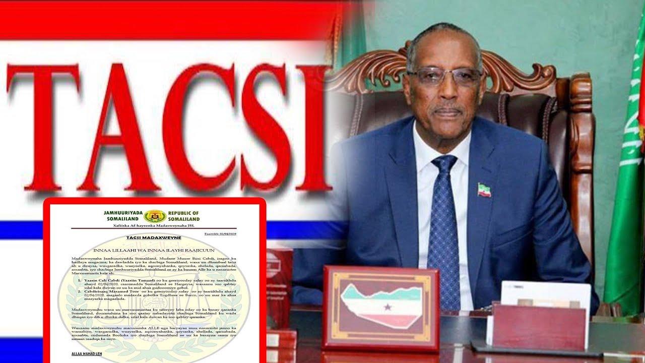 Madaxweynaha Somaliland Aya Hada Tacsi U Dariy Geeridii Ku Timid Marxuum Cabdiraxmaan Maxamuud Ibraahim (Saqadhi)