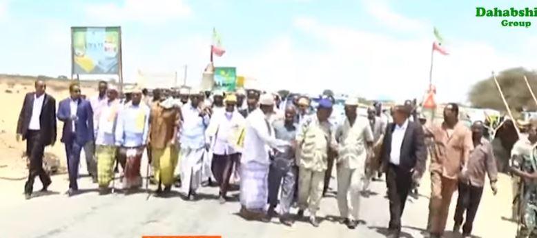 Hargeisa:-Wafti Balaadhan Oo Lagu Ka Socoday Gobolka Sanaag Oo Lagu Soo Dhaweeyay Magalada Gabiley