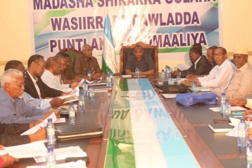 Puntland:-hirkii Golaha Wasiiradda Maamulka Puntland Oo Saaka Ka Furay Badhan Iyo Xukuumadda Somaliland Oon Ka War Hayn
