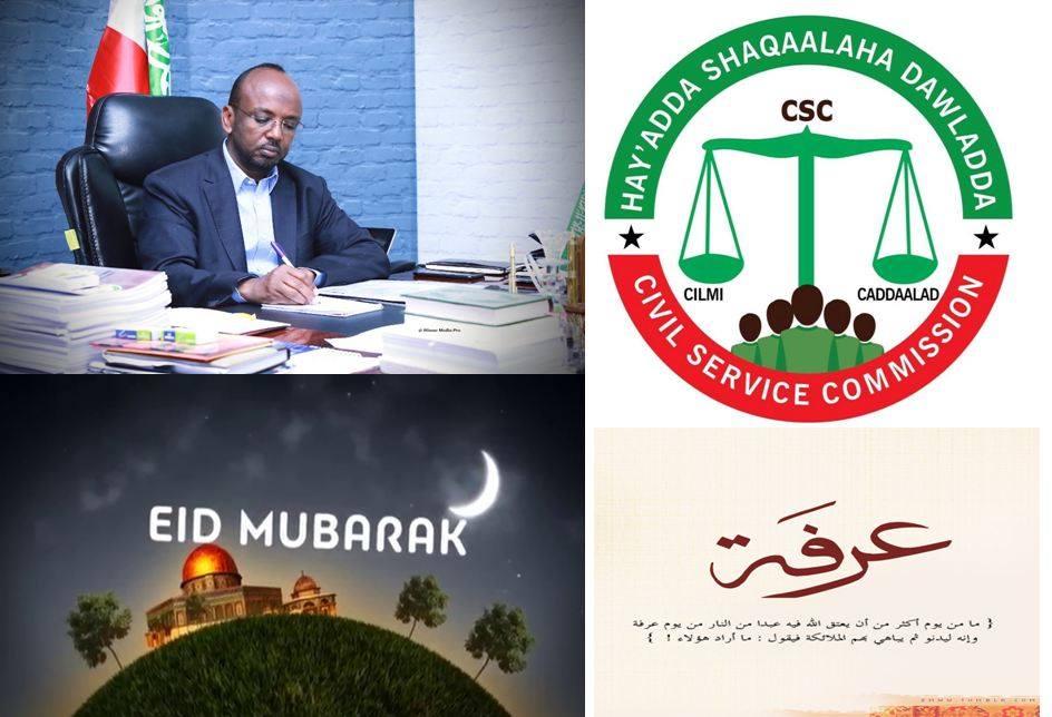 Haayada Shaqaalaha Dawlada ee Munaasabada Ciida Arafo Awageed Fasax Galisay Shaqalaha.