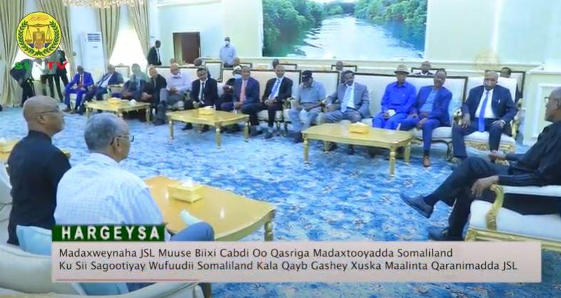 Madaxweynaha JSL Muuse Biixi Cabdi Oo Sagootiyay Wufuudii Somaliland Kala Qayb Gashay Xuska 18 may