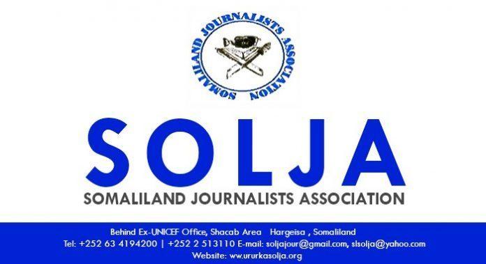 Ururka Suxufiyiinta Somaliland Ee Solja Oo Ka Hadlay Go'aan Ay Xukuumadu Xayiraadii Kaga Qaaday Hay'addo Warbaahineed Oo Xidhnaa.
