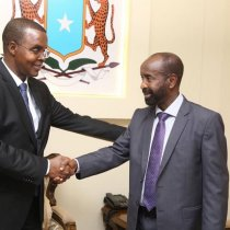 Muqdisho:-Duqa Muqdisho Oo Kulan Madaxtooyada Kula Qaatay Masuuliyiin Ka Tirsan Madaxtooyada Somaliya.