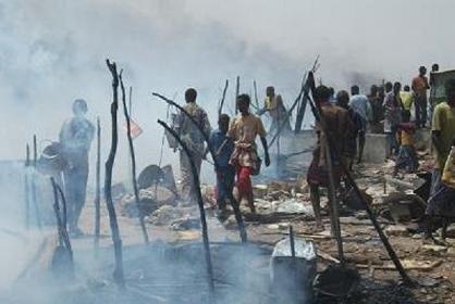 Somalia:-Carruur ku geeriyootay dab ka kacay xaro barakacayaal degmada Wadajir ee gobolka Banaadir