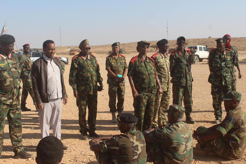 Wasiirka Gaashaandhiga Somaliland Ayaa Gaadhay Jiida Hore Ee Ciidanka Qaranka Ee Gobolka Sool
