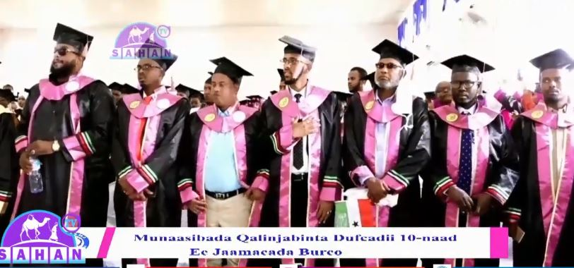 Burco: Daawo Dufcaddii 10aad oo ka qalinjebisay Jaamacadda Burco iyo Madaxweynaha Somaliland oo ka qaybgalay