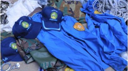 Hub iyo dhar ciidan oo sharci darra ah oo lagu qabtay Addis Ababa