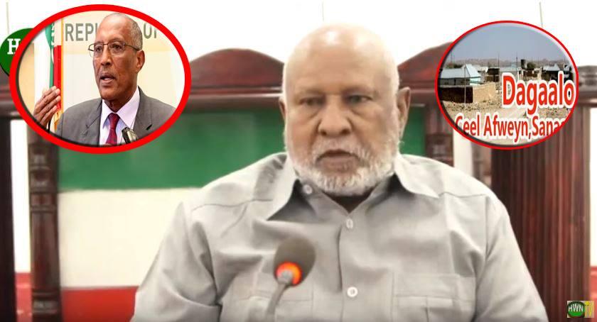 Hargaysa;-Gudoomiyaha Golaha Guurtida Somaliland Oo War Cusub Ka Soo Saaray Xaalada Deegaanka Ceerigaabo
