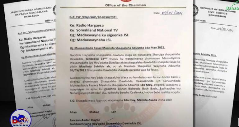 Gudaha:-Ha'yadda shaqaalaha dawladda Somaliland oo fasax galisey shaqaalaha kala duwan ee dawladda