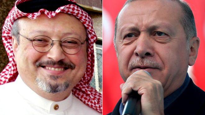 """Hogaamiyaha Turkiga oo si toos ah u eedeeyay Dowladda Sucuudiga""""Dilkii Khaashuqji"""