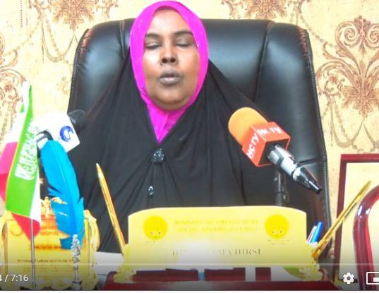 Daawo:Hinda Jaamac Xirsi Gaani Wasiirka Shaqo Galinta Iyo Arimaha Bulshada Somaliland