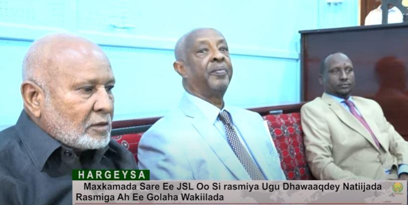 Maxkamada Sare oo si rasmiya ugu dhawaaqdey natiijada rasmiga ah ee Golaha Wakiillada.