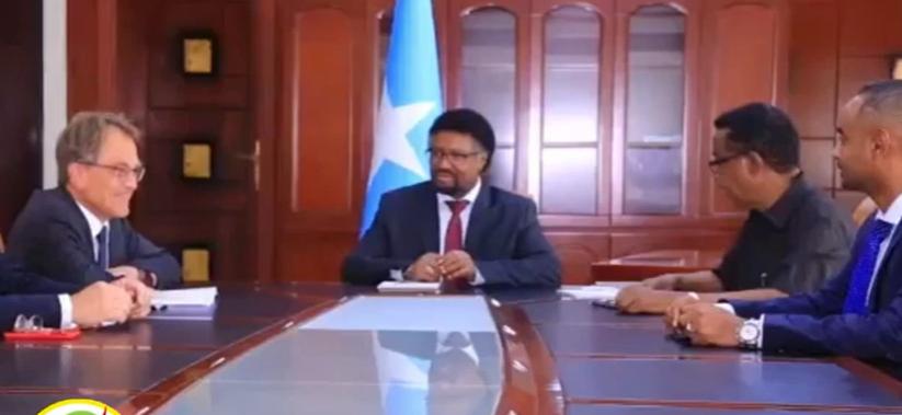 Gudoomiyaha Labada Aqal Ee Somalia Oo Kulamo La Qaatay Safiirka Sweden U Fadhiya Somalia