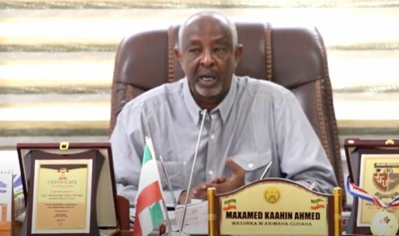 Wasiirka arimaha gudaha Somaliland oo kulan isugu yedhay gudoomiye yaasha goboladda Somaliland