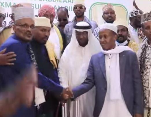 Daawo: Suldaanka Guud ee Subeer Awal oo Hadhimo sharafeed u sameeyey Suldaanka Cusub ee Beelaha Arab