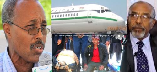 Garoowe:-Puntland Oo Qaabishay Diyaarad Siday Tahriibeyaal Reer Somaliland Ah Oo Garoonka Hargeysa Laga Celiyay.
