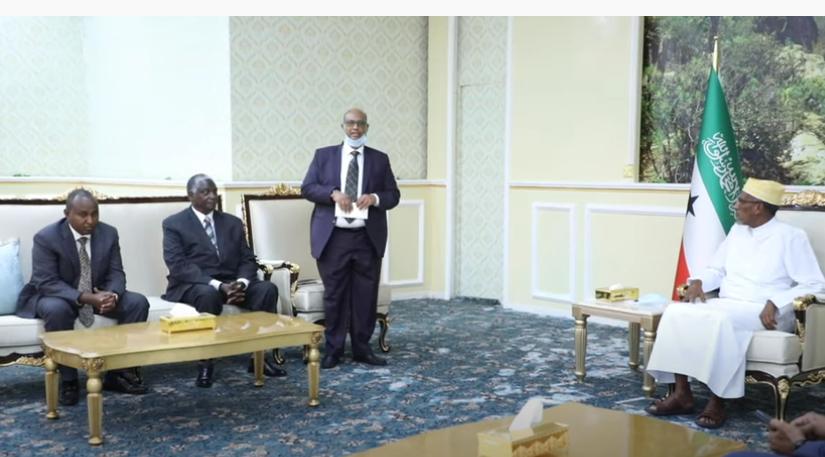 Madaxweynaha Somaliland oo Qaabiley Wefti sare oo ka socda Dalka Kenya