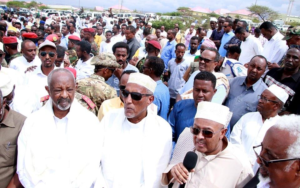 Madaxweynaha Somaliland Oo Ka Qayb-galay Aas Qaran Oo Loo Sameeyey Maanta Marxuum Cabdilaahi Obsi Oo Xalay Ku Geeriyooday Magaalada Hageysa.