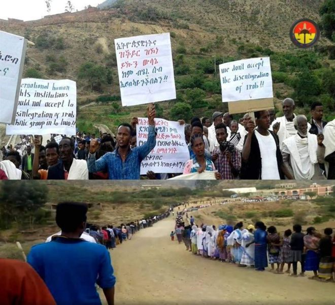 Ethiopia:-Dadka gobolka Tigray ee dalka Itoobiya oo dhigay dibadbax+Arimaha Lagag Soo Hor Jeedo.