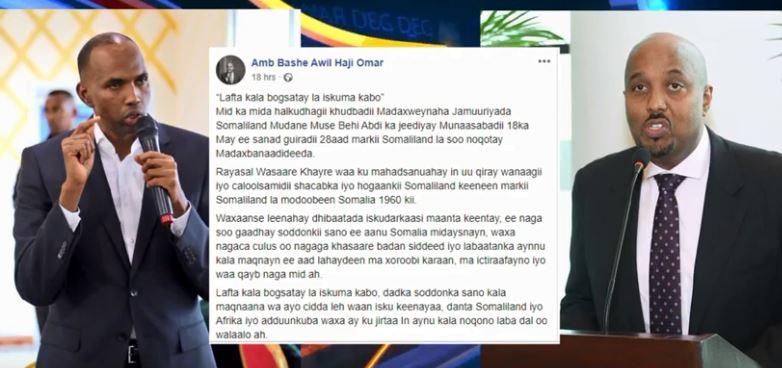 Kenya: Daawo Safiirka Somaliland ee kenya oo u jawaabay Reysal wasaaraha Somalia Xasan Cali Khayre