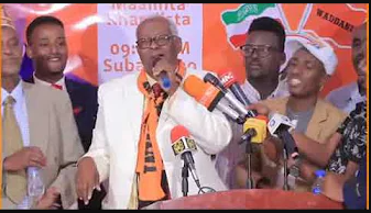 """Gudaha:-Siyaasi Abiib Diiriye Nuur oo ka tirsan masuuliyiinta sarsare ee Xisbiga WADDANI ayaa Kalmad ka """"Furaha Guusha Wan Ku Wareejinay Wadani"""""""