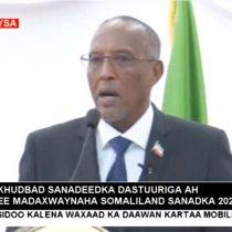 :Khudbad Sandeedka 2020 Ee Madaxwaynaha JSL Muuse Biixi Cabdi Uu Maanta Ka Hor Jeedinaayo Xildhibaanada Baarlamaanka Jamhuuriyada Somaliland.