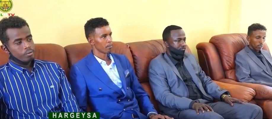 Gudaha:-Saraakiil ka kala tirsan ciidamadda Danab Iyo Gorgor ee Somaliya oo Hargeysa ka dagay maanta