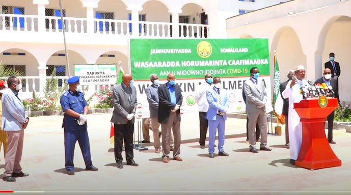Gudaha:-Madaxweynaha Somaliland Oo Si Adag Uga Hadlay Cudurka Dunida Faafaya Fariina U Diray Culimada Iyo Shacabka S,land.