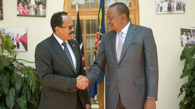 Nayrobi: Farmaajo iyo Kenyatta oo kulan aan la shaacin ku yeeshay Kenya
