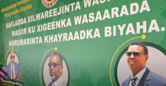 Daawo: Wasiirka Cusub ee Biyaha oo xilkii kala wareegay wasiirkii hore iyo wedhihii laga jeediyey