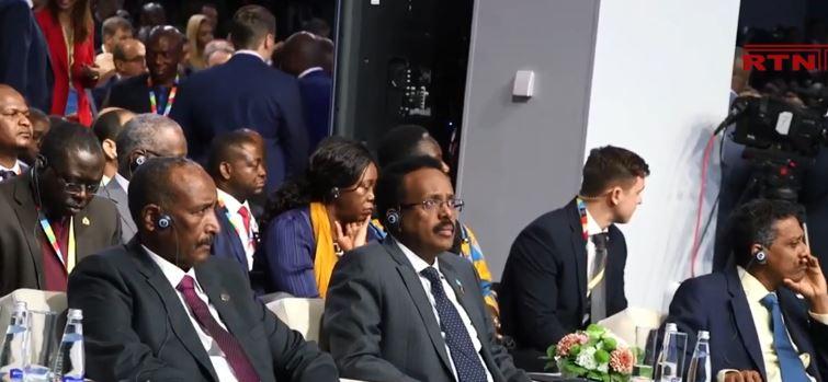 Daawo : MD Farmaajo oo ka qeyb-galay furitaanka Shirka Iskaashiga Ruushka & Afrika