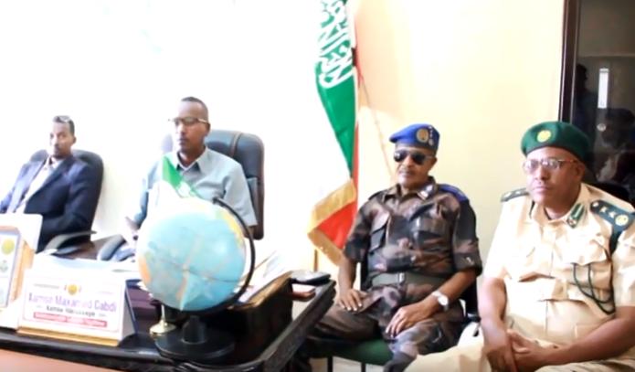 Burco: Daawo Taliyekuxigenka Boliska Somaliland iyo Maamulka Gobolka oo ka hadlay Xaaladda Nabadgelyo ee Togdheer