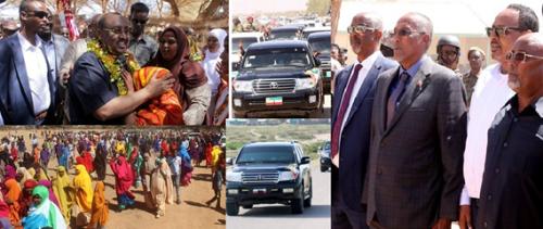 Hargaysa:-Cabdiweli Gaas Oo Shalay Ciidamo Badan Ku Soo Galay Gobolka Sanaag Ee Somaliland Iyo Madaxweyne Muuse Biixi Oo Dib Ugu Soo Laabtay Burco