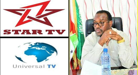 Xukuumada Somaliland Xayiraada Ma Ka Qaadi Doonaan Tvyada Universal IYO Astaan Cable ?