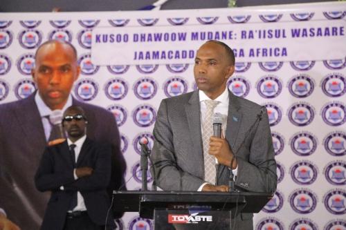 Garoowe:-Raysal Wasaraha Somalia Oo Ka Hadlay Xaalada Degmada Tuke-raq Isa Oo Ku Sugan Magaalada Garoowe.
