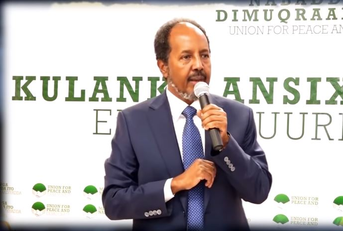 Muqdisho:-Qudbadii Uu Madaxwaynihii Hore Ee Somaliya Xasan Sheekh Maxamuud Ka Jeediyay Furitaankii Xisbiga Uu Hogaaminayo.