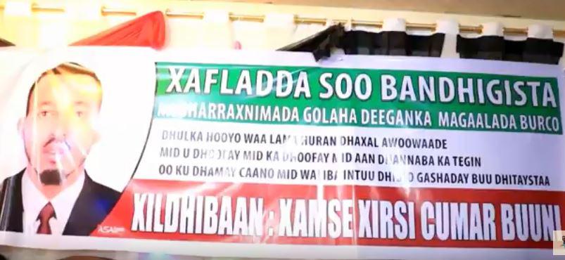 Gudaha:-Musharax Xamse Xirsi Buuni Oo Magalada Burco Kaga Dhawaqay Hankiisa.