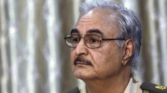 Caalamka:-Taliye Khaliifa Xaftar oo Liibiya dib ugu laabtay.