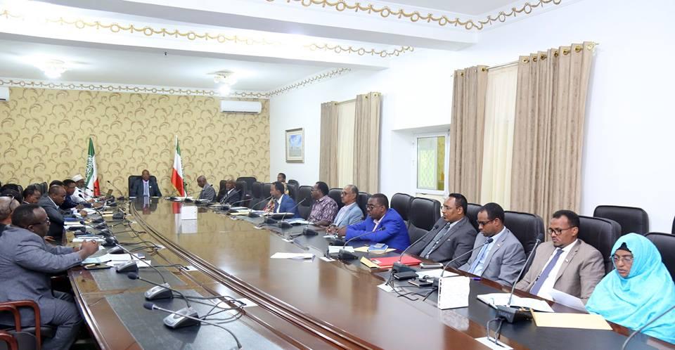 Kal-fadhigii 25-aad Ee Golaha wasiirradda Somaliland Oo Maanta Lagaga Dooday Maalgashiga Dalka Iyo Arrimaha Amniga