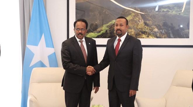 Madaxweyne Farmaajo oo u hambalyeeyay raysal wasaaraha Ethiopia oo ku guulaystay doorashada dalkiisa