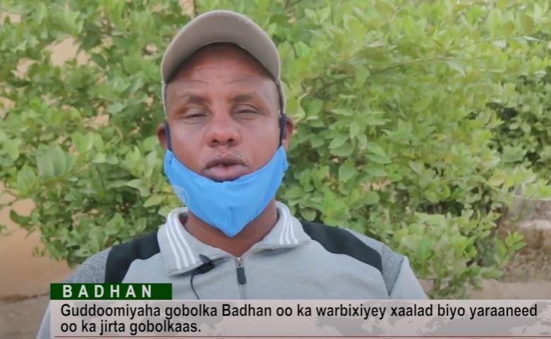 Gudaha:-Gudoomiyaha Gobolka Badhan oo kawar bixiyay Xaalada biyo la'aaneed ee ka jirta gobolkaasi.
