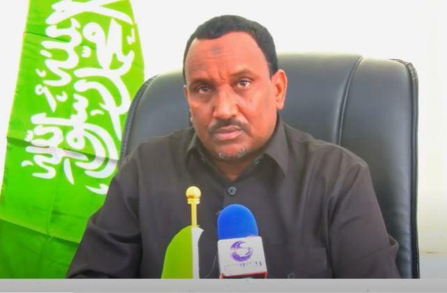 Gudaha:-Wasiirka wasaaradda horumarinta beeraha ee Somaliland Axmed Muumin Seed oo lahadlay.