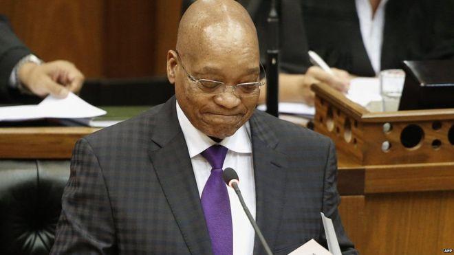 Jacob Zuma oo mar kale mooshin laga keenay