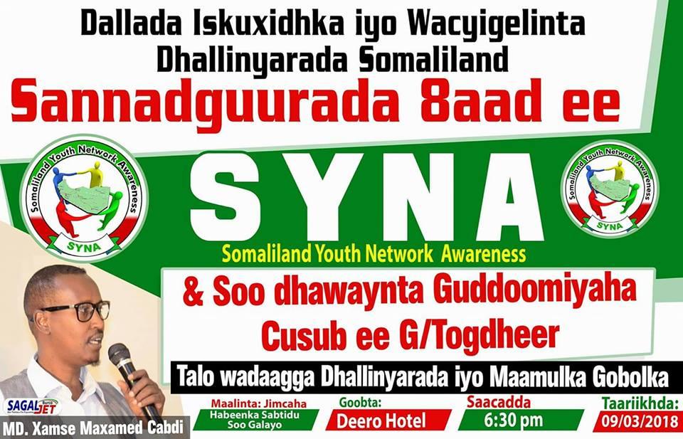 Sannaguuradii 8aad ee Dallada SYNA iyo Soo Dhoweynta Badahsabka Cusub ee Togdheer oo Burco lagu qabtay+SAWIRO