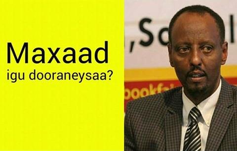 Maxaad igu dooraneysaa? W/Q Mohamed Ali Bile